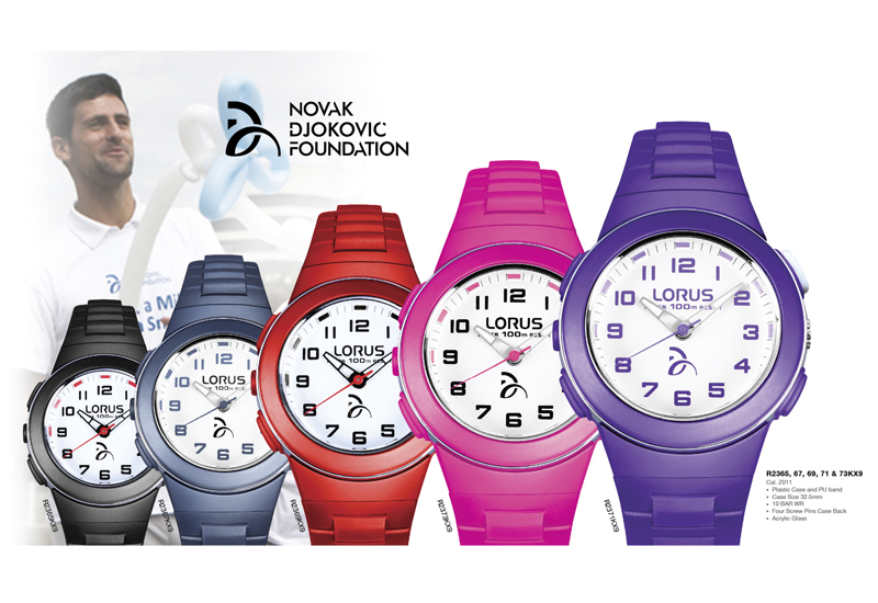 Lorus Collection Supports Novak Djokovic Charity Watchpro Usa