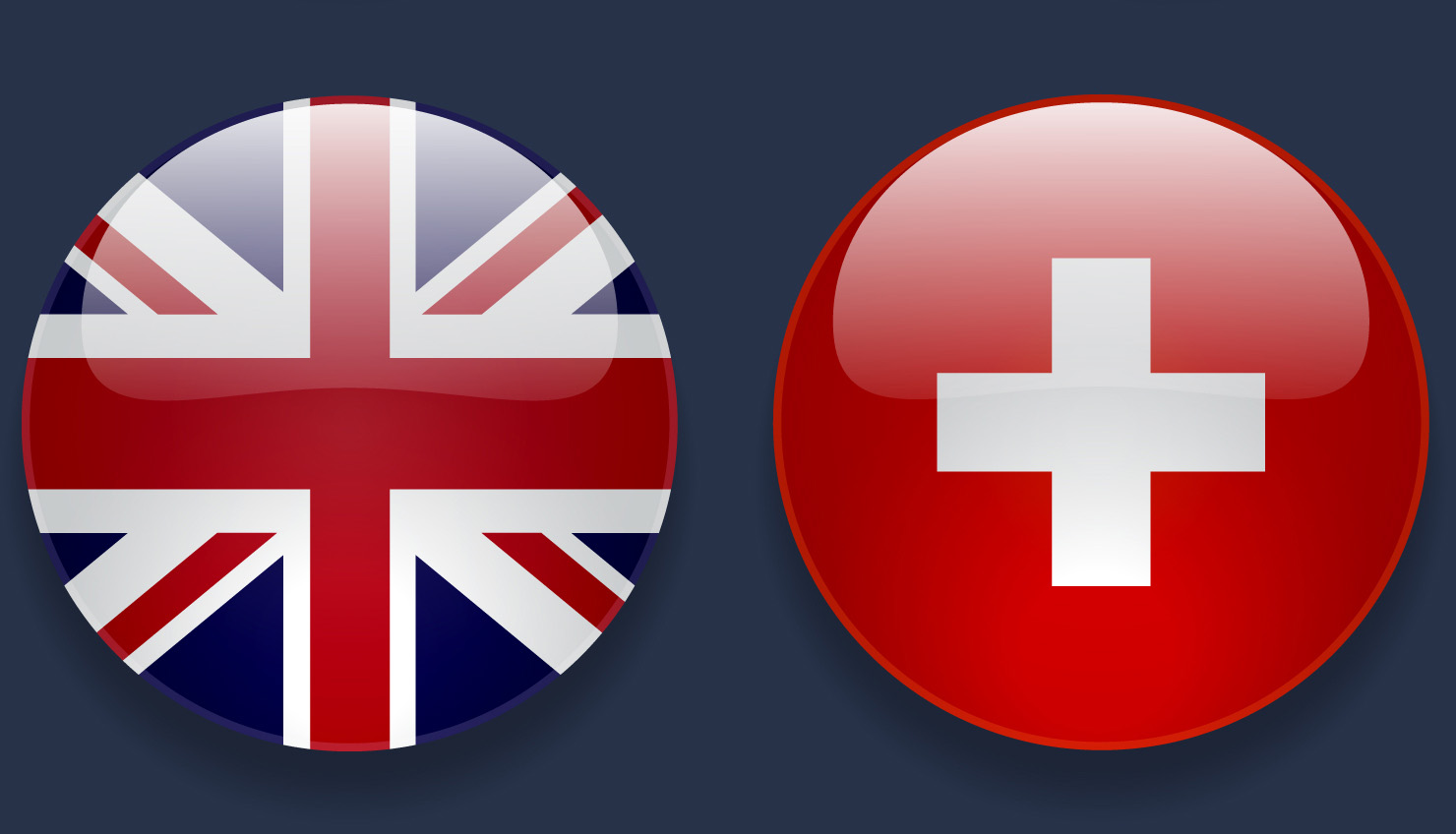 anglo swiss flags