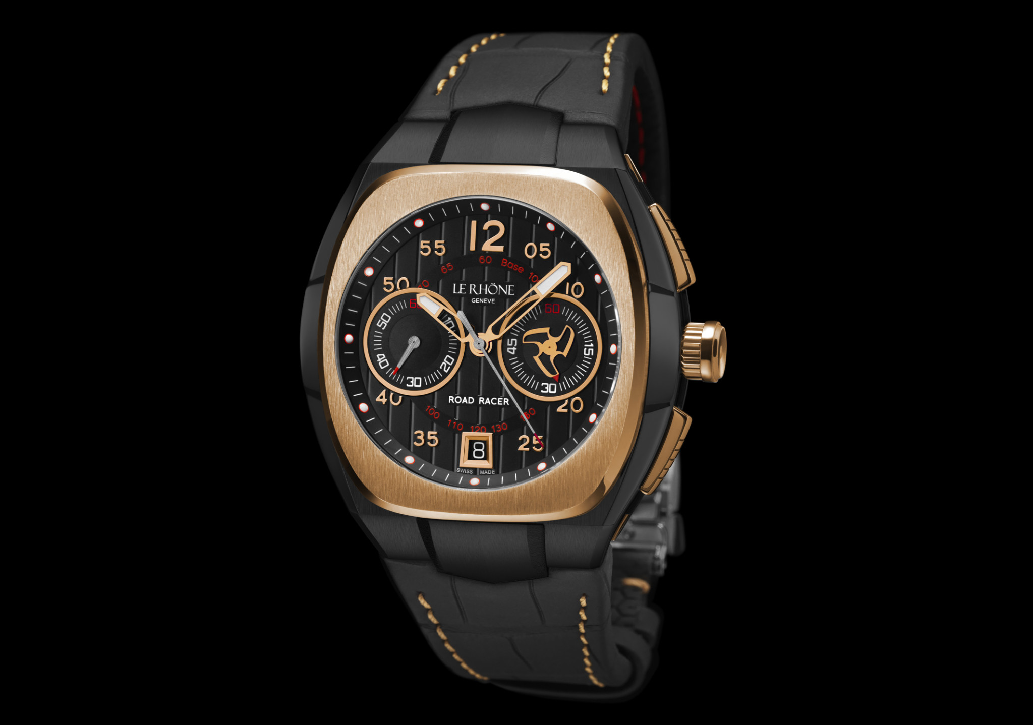 Le_Rhone_Road_Racer_GOLD_BLACK_DIAL