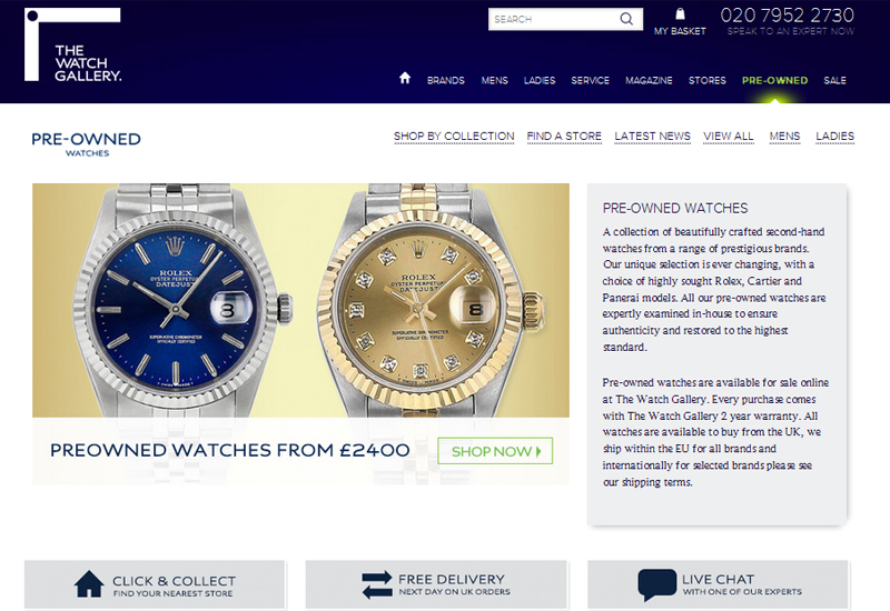 The Watch Gallery pre-owned watches