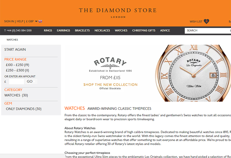 diamondstore-website