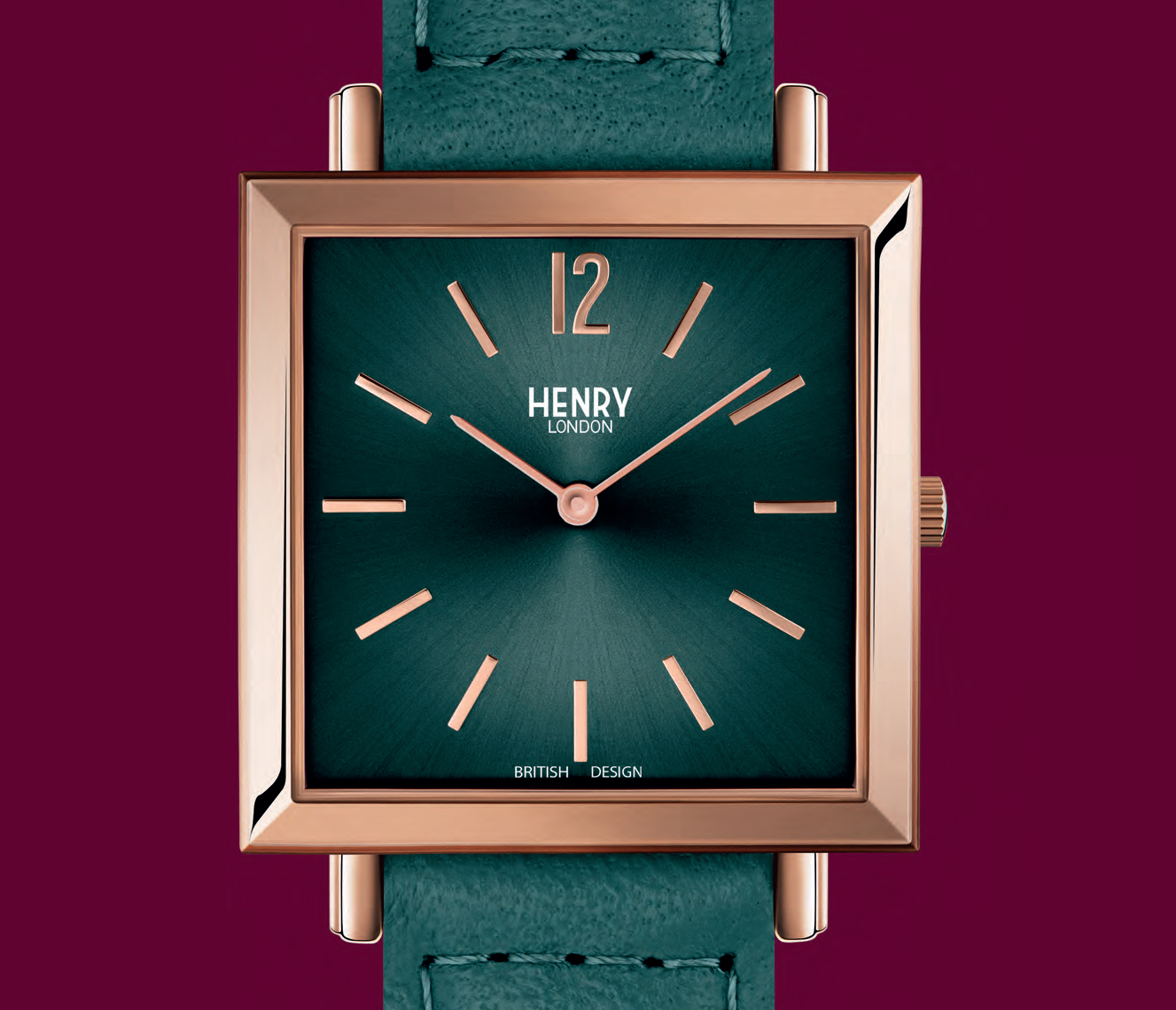 Henry London Square watch