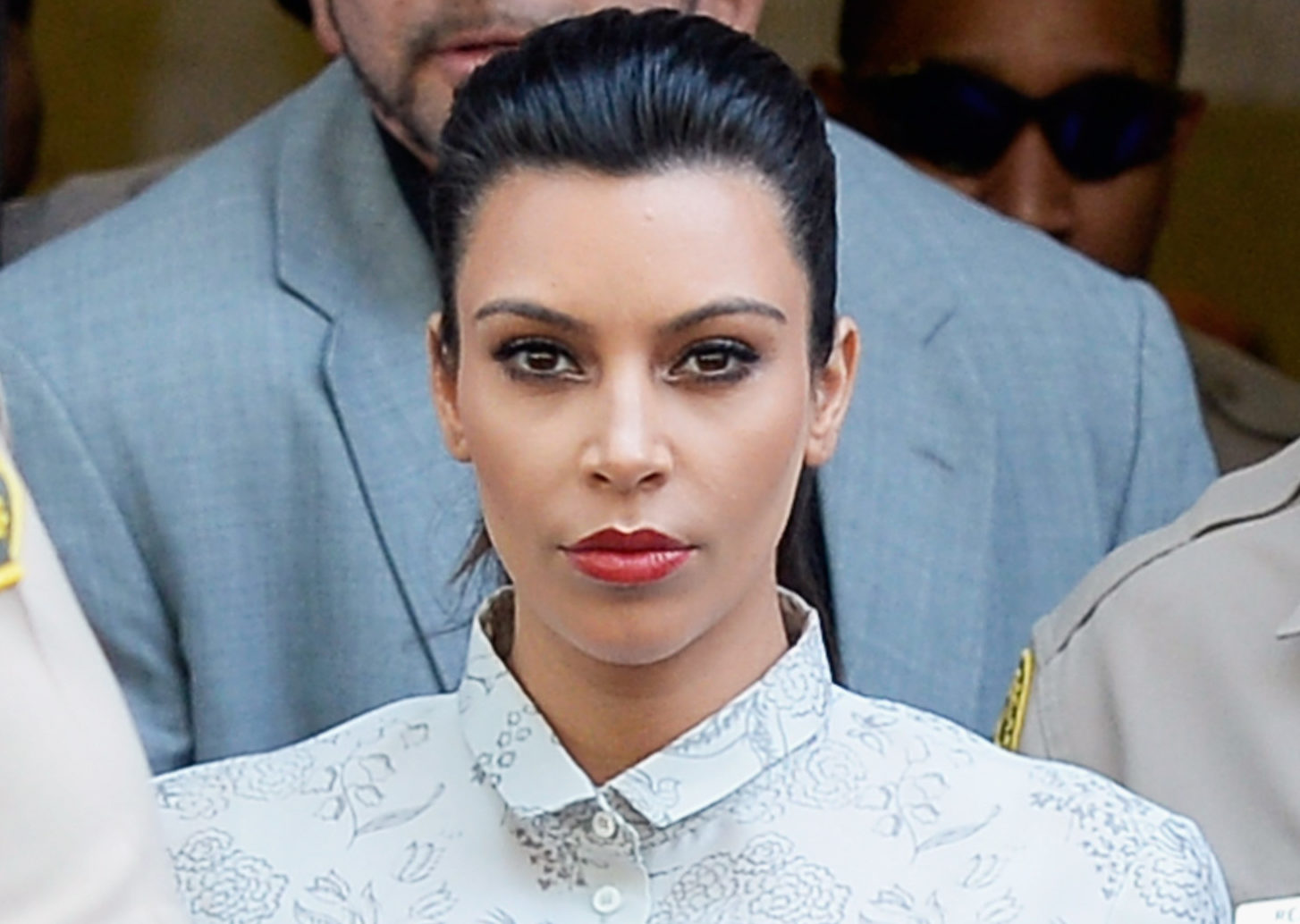 Kim Kardashian And Kris Humphries Attend Their Divorce Hearing