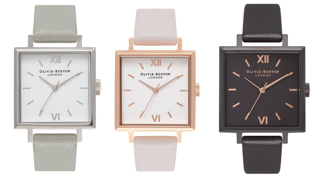 a9c6db380f5 TRENDS  British fashion watch brands revive 1960s trend for square watches