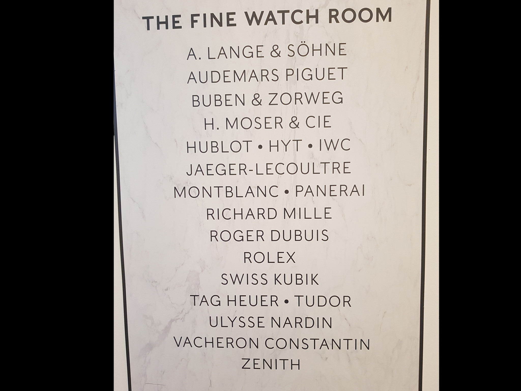 harrods fine watch room brands