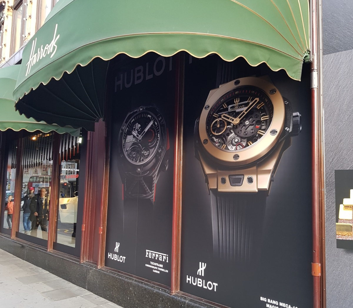 hublot at Harrods outside 2