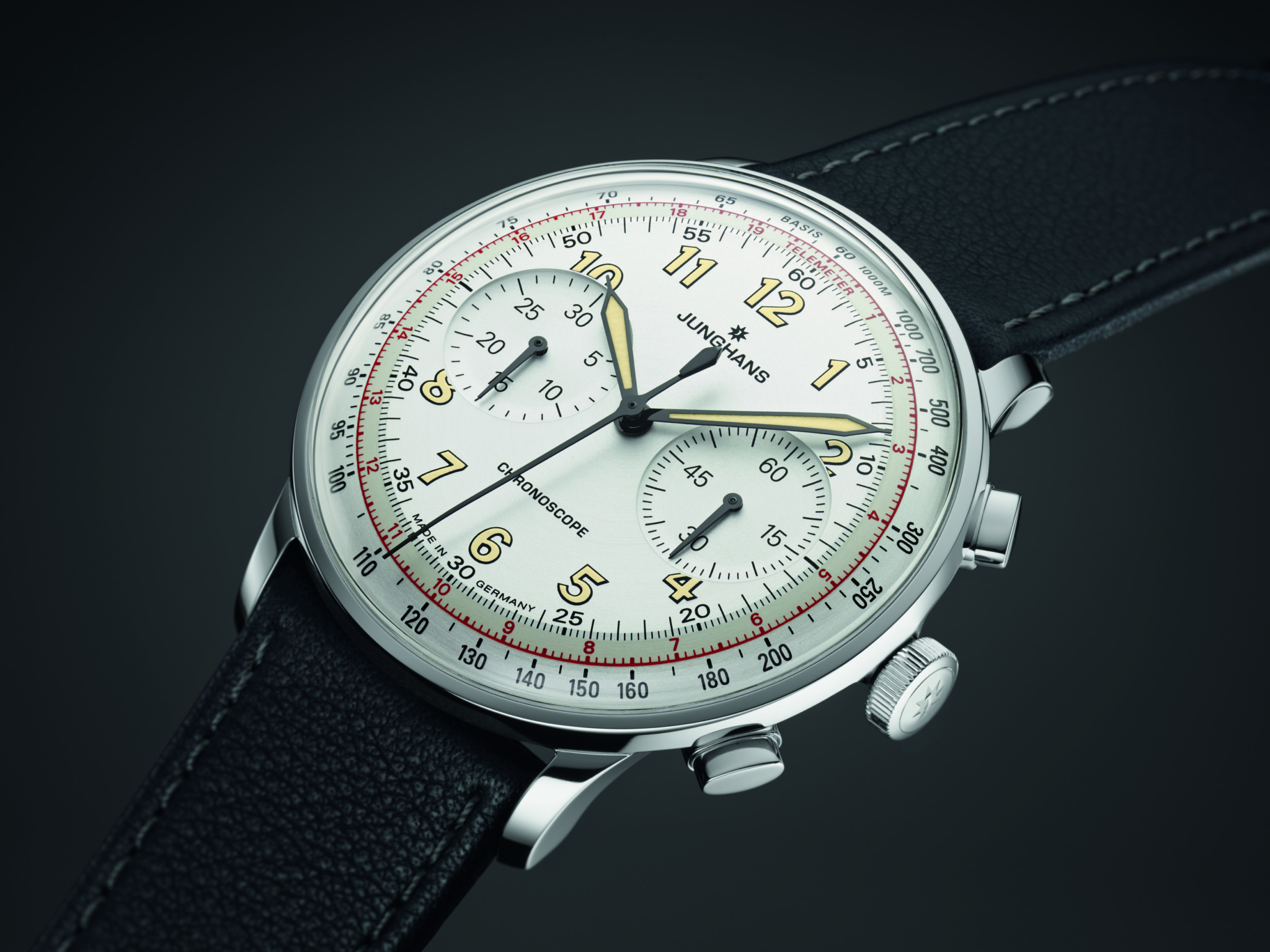 Junghans Meister Telemeter — With an engraved tachymeter scale on the bezel, the Telemeter is Junghans' signature sporty looking collection.