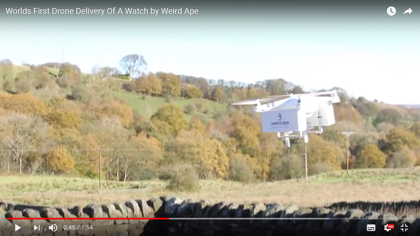 Weird Ape drone delivery
