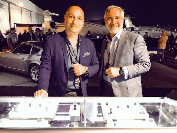 Hacik Girgikian and Thierry Chaunu behind the CHRONOSWISS counter