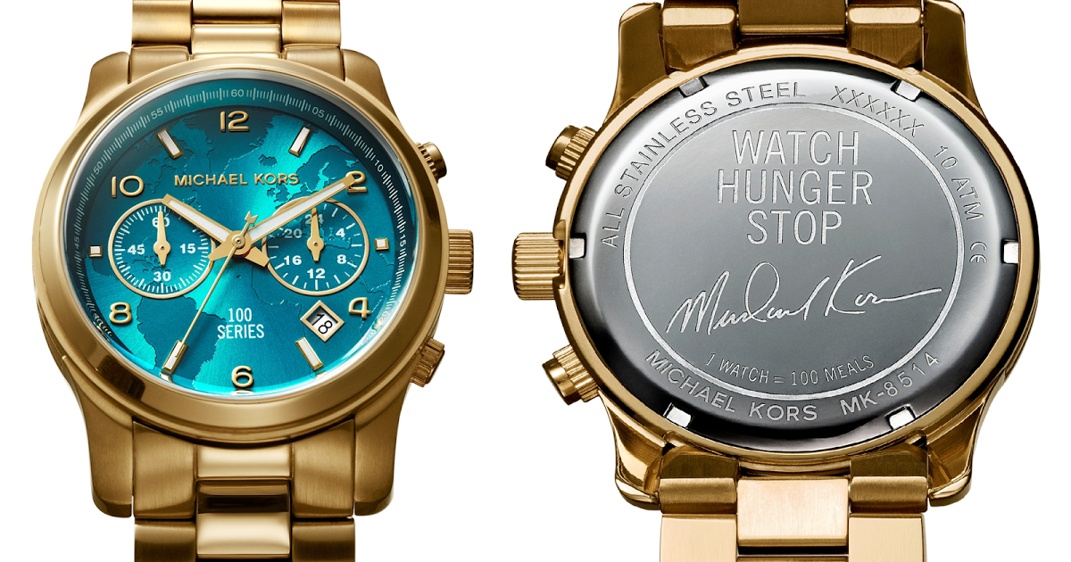 457249a46d58 Buy a Michael Kors watch and 100 meals will be donated to UN s World Food  Programme