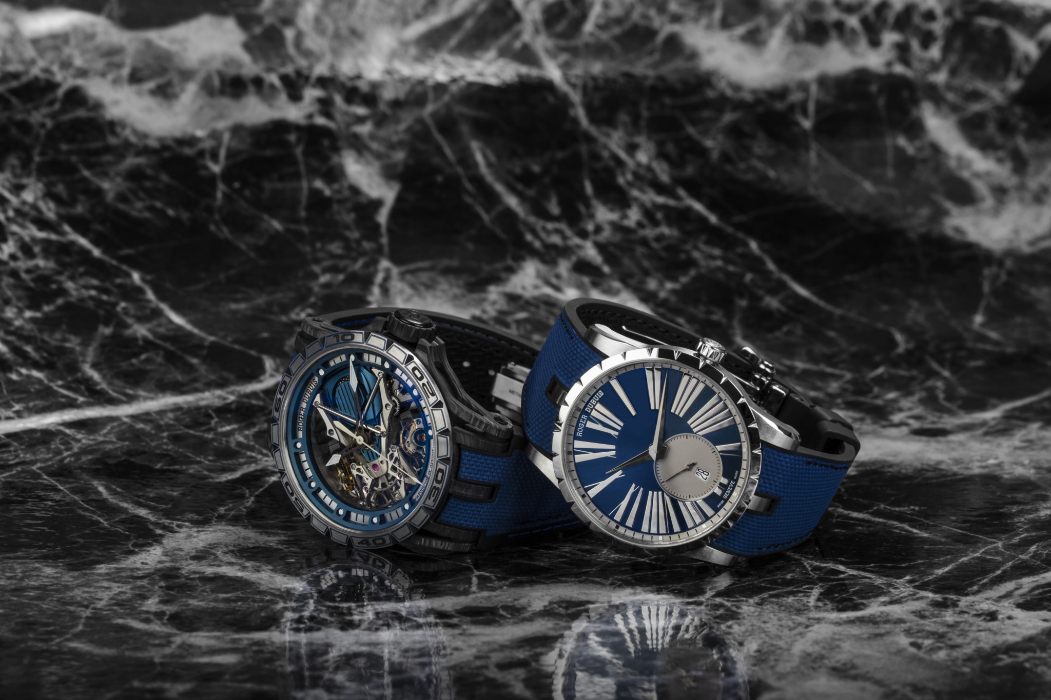 Roger Dubuis_RDDBEX0740_723589_Blue_Social _45mm_and_Roger Dubuis_RDDBEX0730_723299_Skeleton_Social _45mm_00966