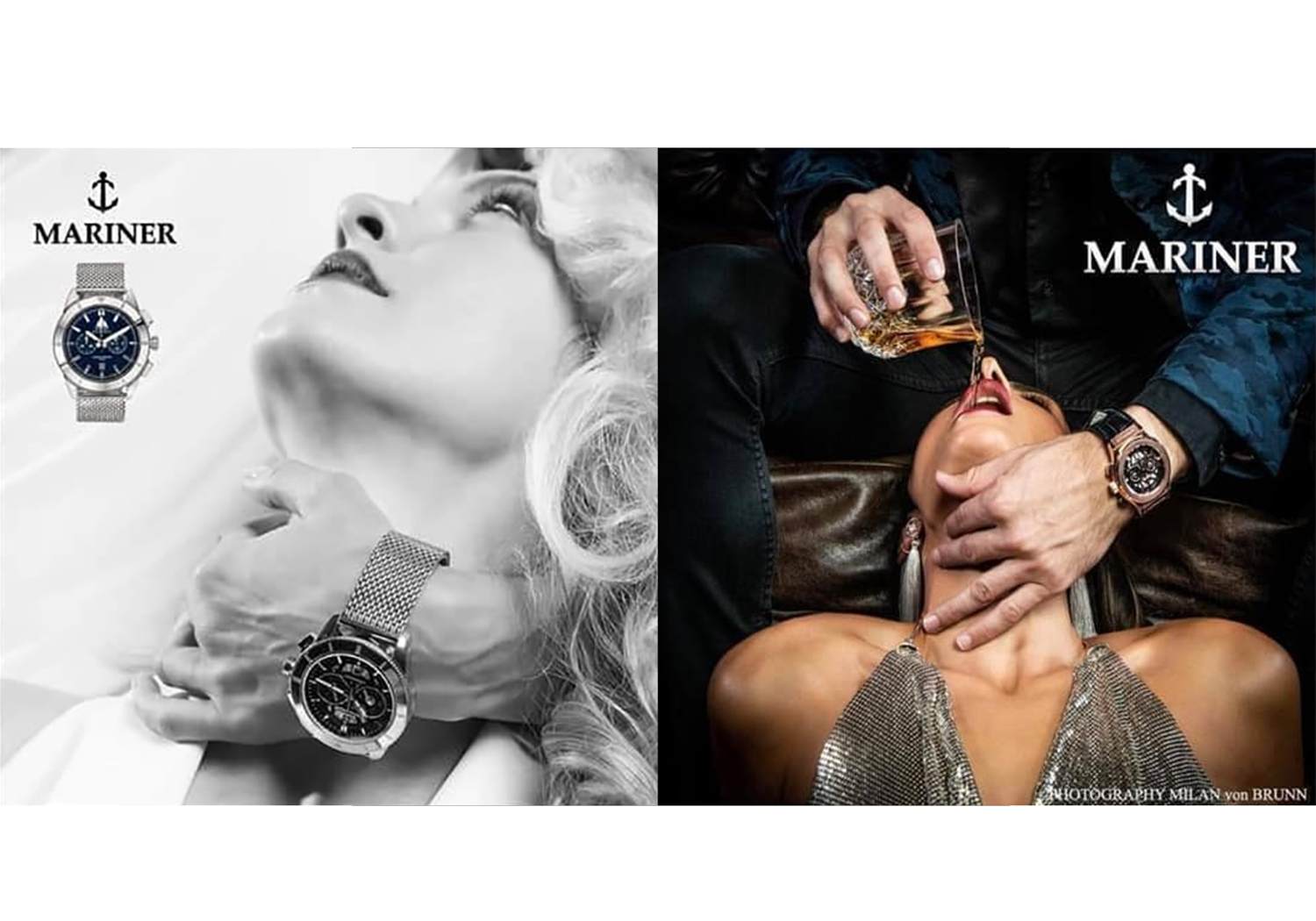 Mariner Watches advert side by side
