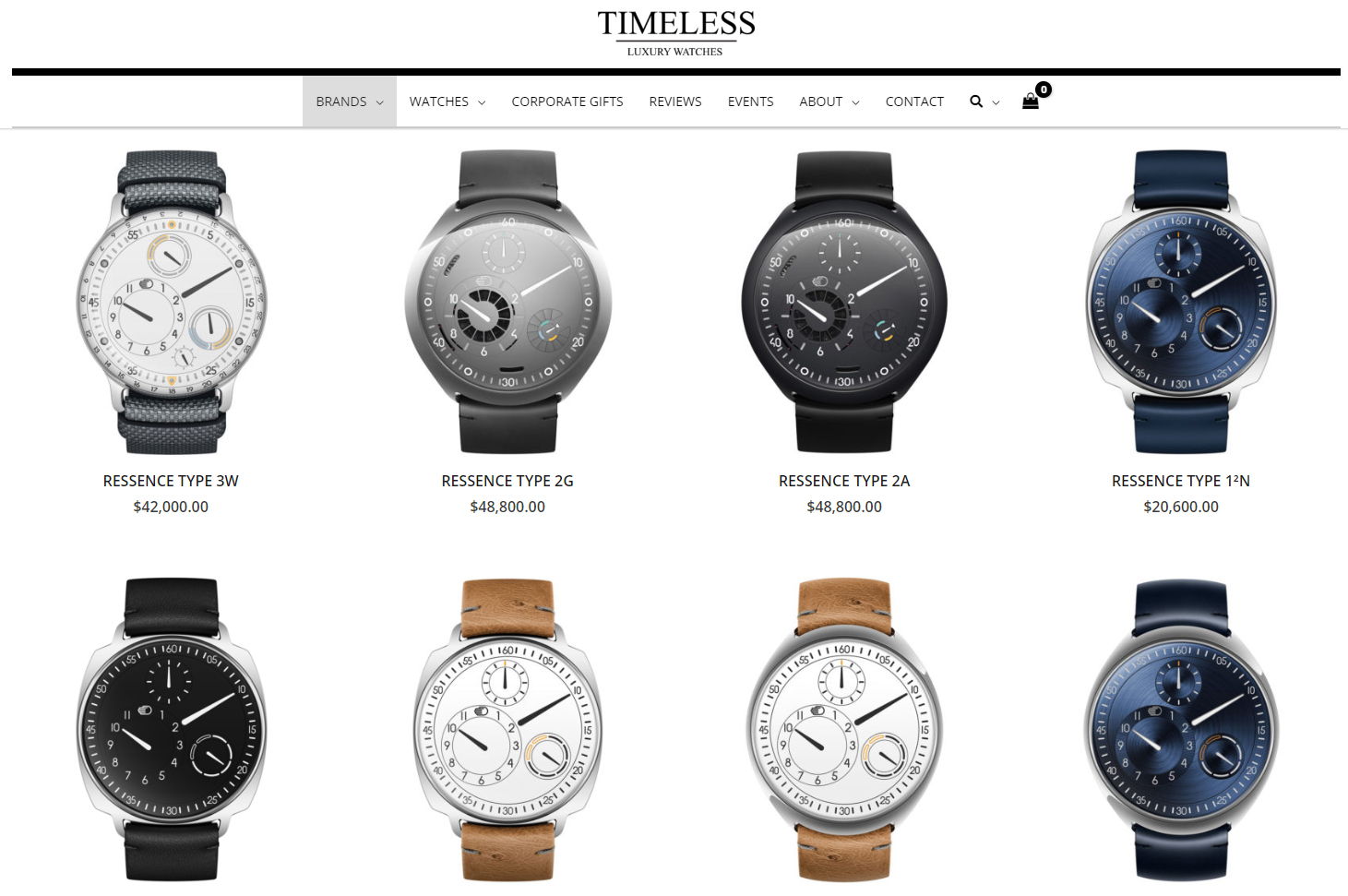 Timeless Luxury website